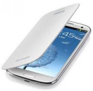 Husa flip cover Samsung Galaxy S3 white/ black